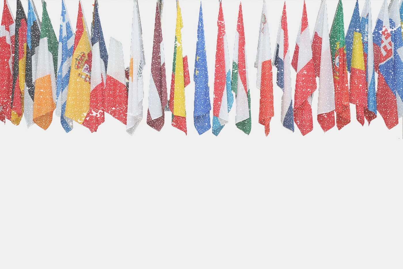 Darstellung der Nationalflaggen aus der europäischen Union