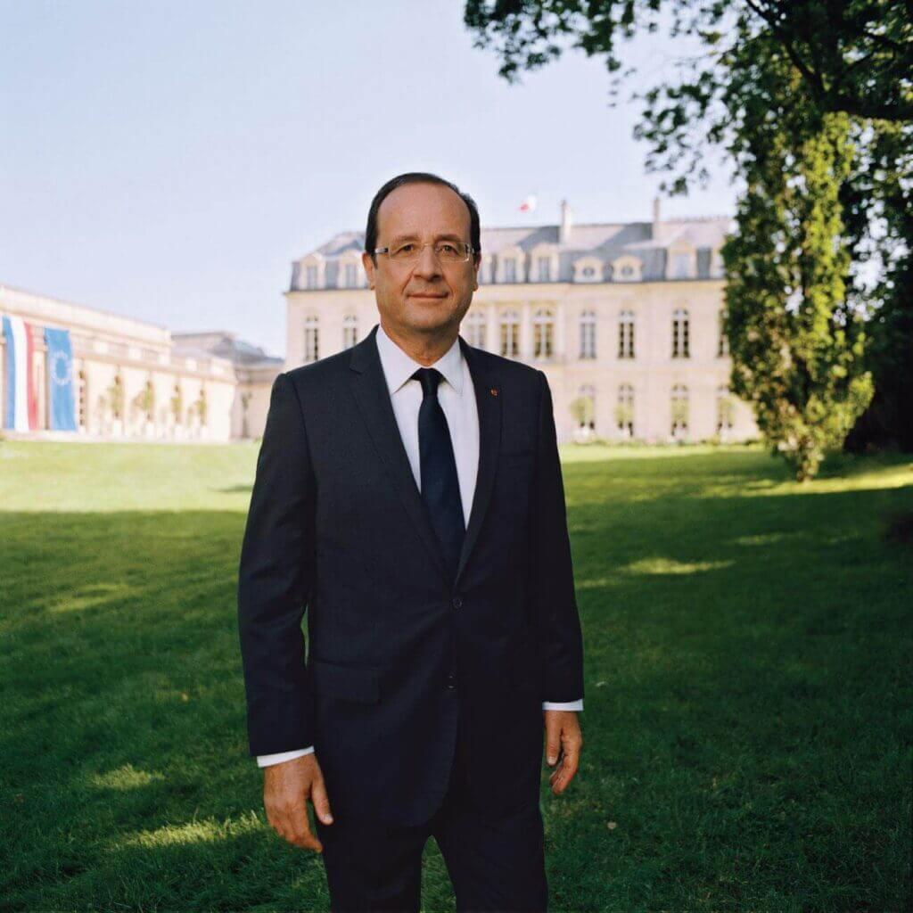 Das offizielle Fotos des französischen Präsidenten François Hollande von Raymond Depardon