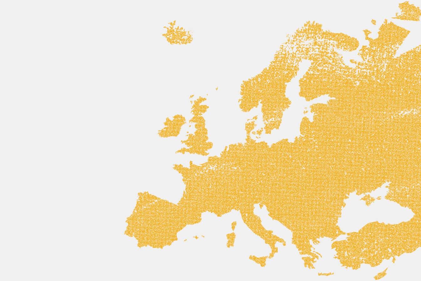 Illustration von Europas unsichtbaren Grenzen