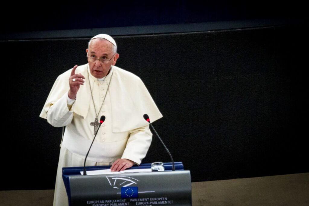 Der Papst spricht im europäischen Parlament