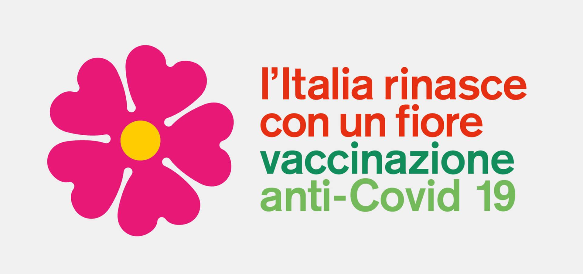 Entwurf des Architekten Stefano Boeri Architetti für ein Pro-Impf-Logo in Italien.